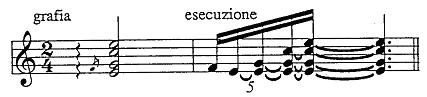Acciaccatura with arpeggio