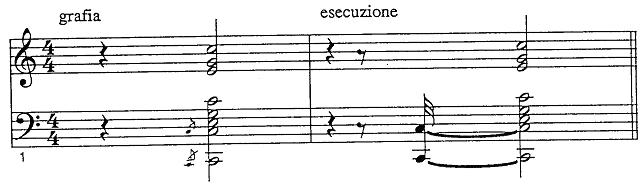 Acciaccatura on chord