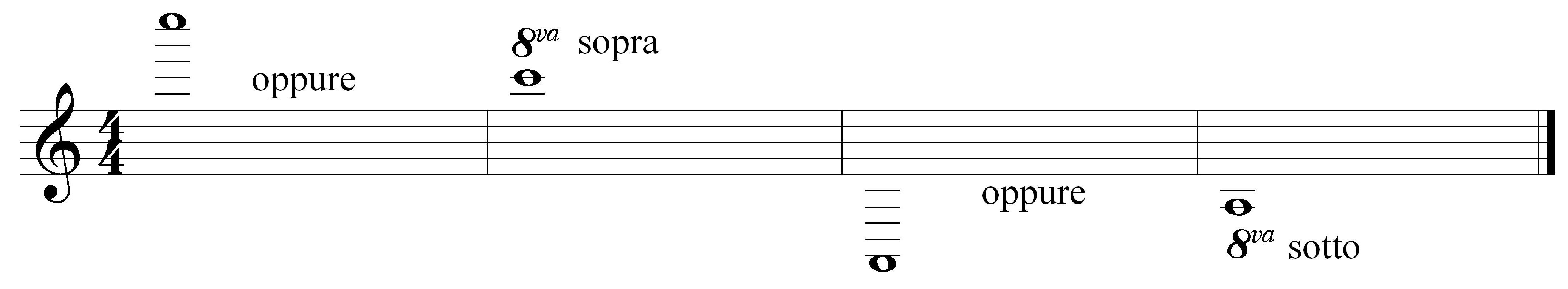 octave above or below