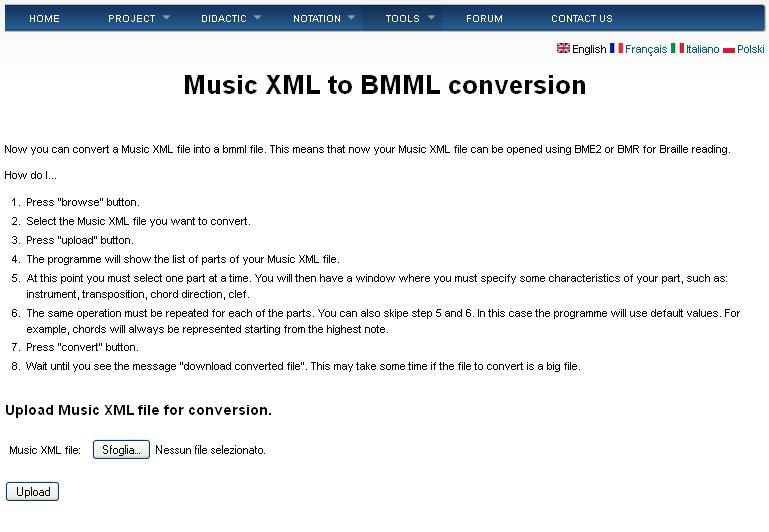 from xml to bmml window